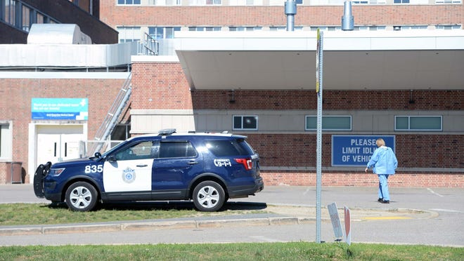 A person showed up at the Good Samaritan Medical Center emergency room with a gunshot wound on Wednesday morning, June 17, 2020. Brockton police are investigating.