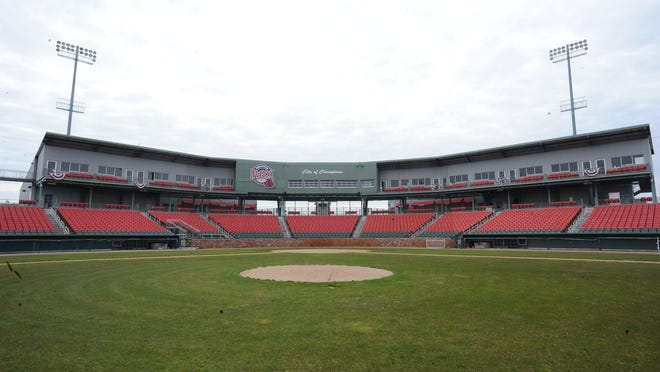 Campanelli Stadium in Brockton, on Thursday, April 30, 2020.