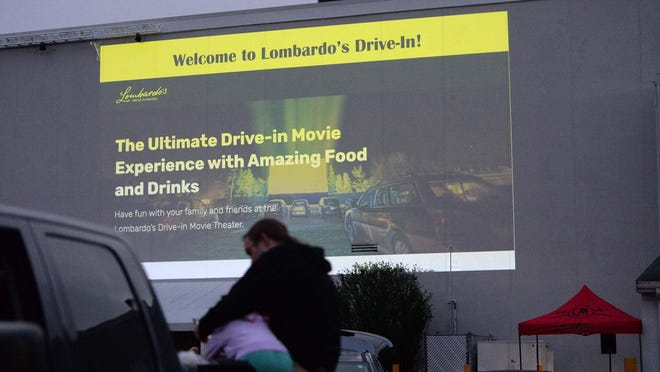 Lombardo's opened its new drive-in movie theater in Randolph on Wednesday, July 1, 2020.