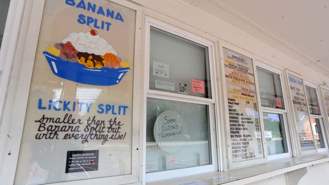 Peaceful Meadows Ice Cream, at 60 Bedford St, in Whitman, was temporarily closed on Friday, July 31, 2020, after two employees tested positive for COVID-19.
