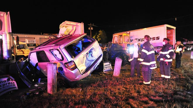 Two people were injured in a multiple-vehicle collision near 600 Turnpike St. (Route 138) in Easton, Wednesday, Aug. 19, 2020.