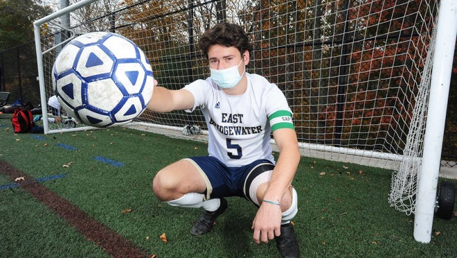 East Bridgewater's Ben Higgins, on Tuesday, Oct. 20, 2020.