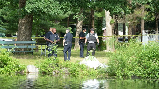 A body was located in Upper Porter Pond at D.W. Field Park in Brockton on Tuesday, June 30, 2020.