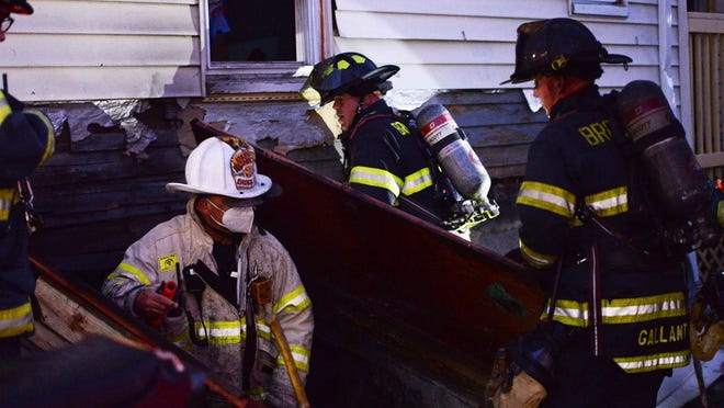 A basement fire in a three story wood structure at 430 Warren Avenue in Brockton on Thursday, July  16, 2020.