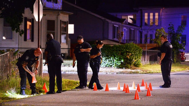 Seventeen gunshots in the area of 4 Kenwood Street in Brockton, on Tuesday,  August 4, 2020