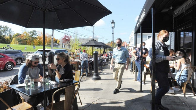 Outdoor dining at the Farmer's Daughter in Easton on Thursday, Oct. 22, 2020.