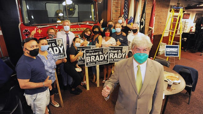 State Sen. Michael Brady at Keating Hall in Brockton, the home of the Brockton Firefighters Local IAFF 144, Tuesday, Sept. 1, 2020.
