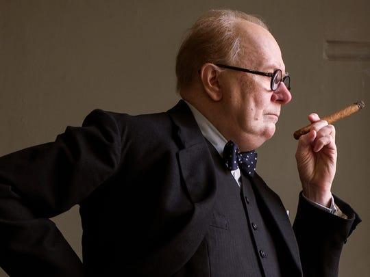 "Gary Oldman channels Winston Churchill in ""Darkest Hour."""