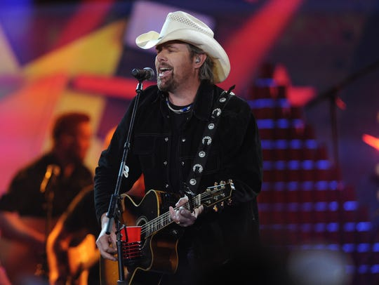 Country music star Toby Keith hits the stage on Friday,