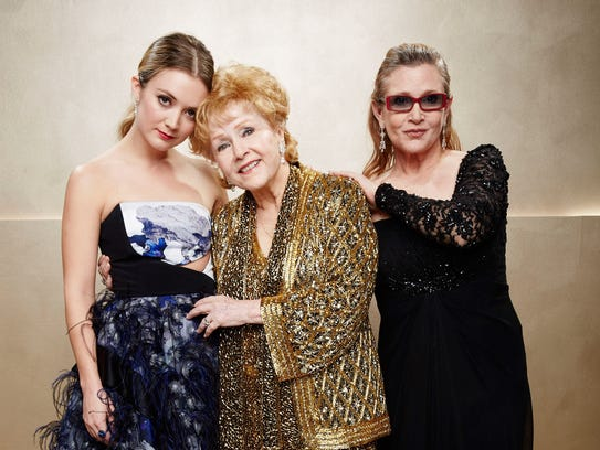 Three generations of women posed at the SAG Awards