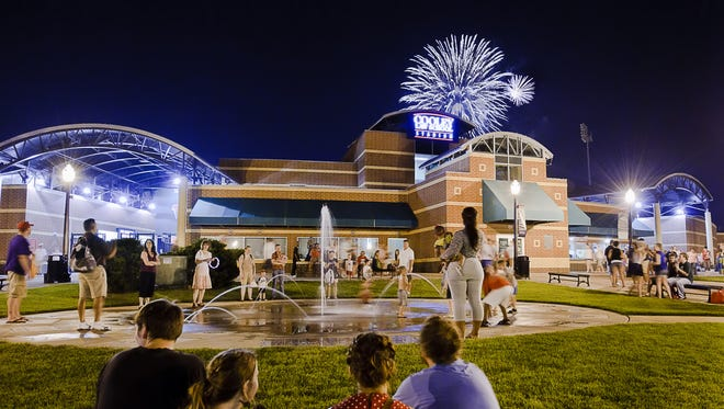 Lansing fireworks lit up the sky over Cooley Law School Stadium in past years. Add in a zoo visit and some night kayaking, and you've got a great lineup if you plan to stay in town this holiday weekend.