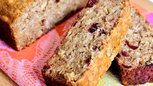 Cranberry Bread with Faro and Served with Apple Butter