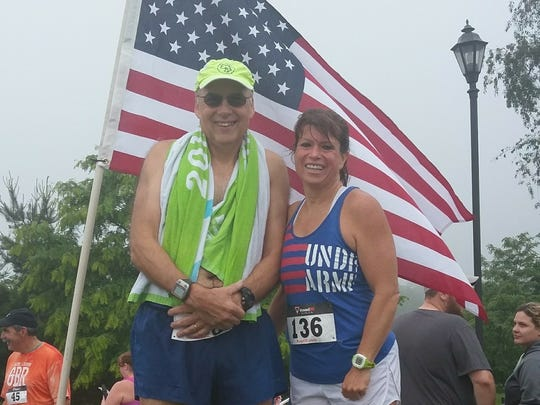Greencastle's John Economos and Waynesboro's Deb Swope competed in the Healthy Adams County 5K on May 29. Economos completed the race in 25:01, while Swope finished in 25:21.