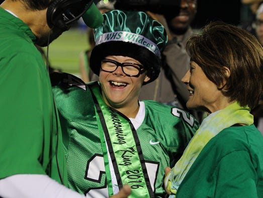 Novi senior Robby Heil, just named homecoming king,
