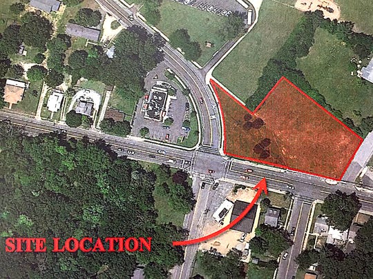 Proposed location for Dollar General in Millville.