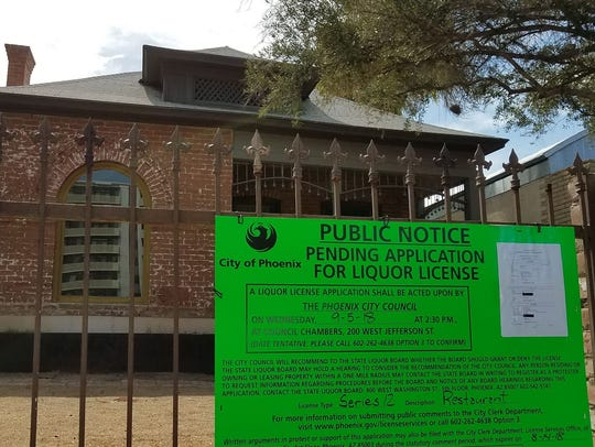 A city of Phoenix Pending Application for Liquor License