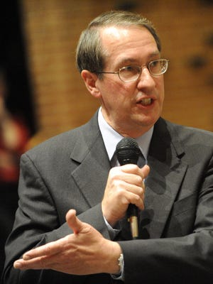 U.S. Rep. Bob Goodlatte, R-6th, responds to public comments during a town hall meeting on health care.