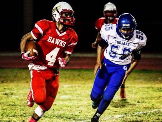 Rio Rico's Ricky Perez played his first game a week