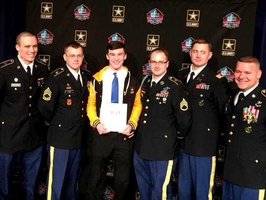Army representatives were on hand to salute Award for