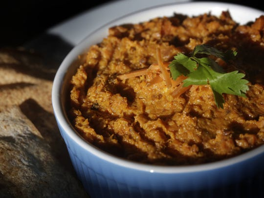 Make some healthy dip for your Super Bowl party with Asian-Infused Roasted Carrot Dip.