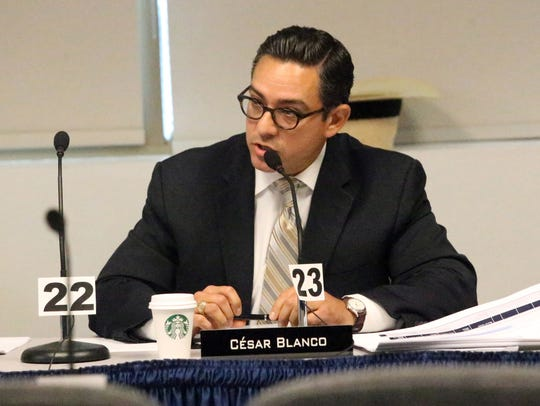 State Rep. César Blanco questions a proposal to remove