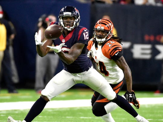 Keith Mumphery, WR, Texans. 2016 stats: 10 receptions, 69 yards in 11 games.