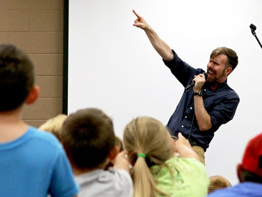 Singer Will Parker performs at the Wichita Falls Public Library