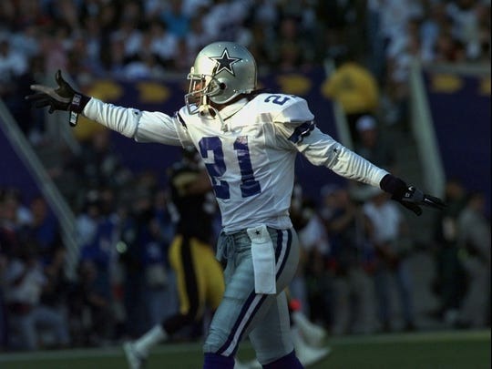 1996: Deion Sanders, Dallas Cowboys: The 1985 North Fort Myers High graduate won his second straight Super Bowl while he helped the Cowboys win their third NFL Championship in four years after a 27-17 win over the Pittsburgh Steelers in in Super Bowl XXIX. He caught a pass for 47 yards while he returned a punt for 11 yards.