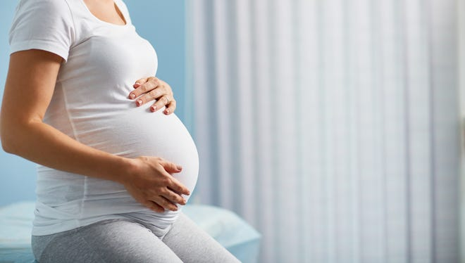 Illustration of a pregnant woman