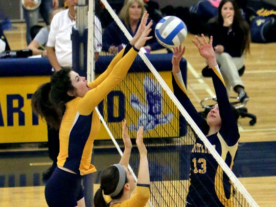 Sarah Skinner rejects South Lyon's Brooke Campos during