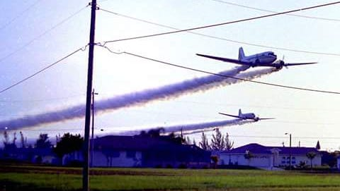 Lee County Mosquito Control would sending roaring planes in over the river at dawn to jerk people, hearts thumping, from their beds.