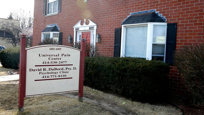 The former Universal Pain Center, at 6001 W. North Ave., formerly Wauwatosa Pain Management Clinic, is under investigation. Federal authorities believe Wauwatosa Pain was a pill mill flooding opioids onto the street for anyone willing to pay cash. It was founded by a roofer with no medical training who apparently is no longer part of the business.