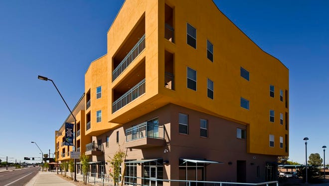 This building was developed in Tempe, Arizona by Cardinal Capital Management for people who are deaf, blind and hard of hearing. Cardinal Capital will develop a building with similar amenities to meet the needs of Morris County tenants, though it will not have the same southwest-style exterior.