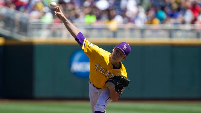 Alex Lange and the LSU Tigers are ranked No. 11 in Baseball America's preseason poll.