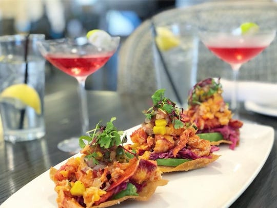 The Black Marlin offers Ahi Poke or Lobster tostadas.