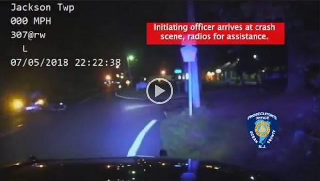 The Ocean County Prosecutor's Office released dash cam footage from a Jackson Police Department cruiser pursuing a motorcyclist July 5.