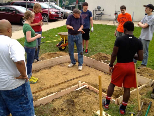 It takes a lot of hands to create a community outdoor oven. Our Saviour's Lutheran Church in Minneapolis prepares to build from the ground up.