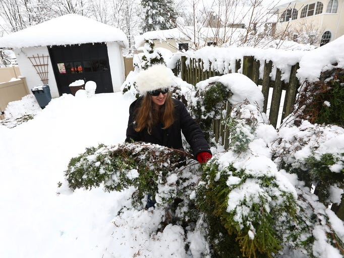 Residents and business owners in Morristown dig out