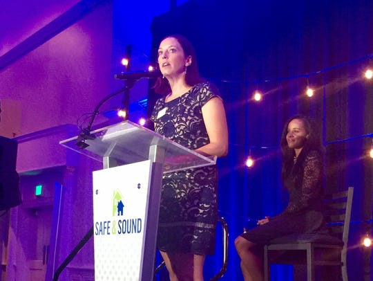 Katie Sanders, executive director of Safe & Sound,