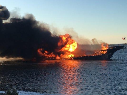 Casino Shuttle Boat Fire
