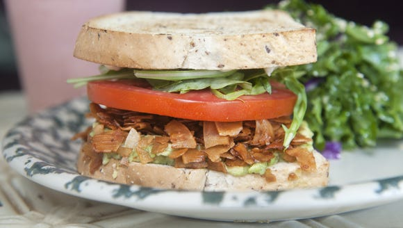 A Coconut BLT  makes for a tasty lunch at Heart Beet