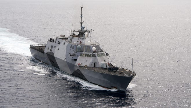 The USS Freedom. a littoral combat ship.