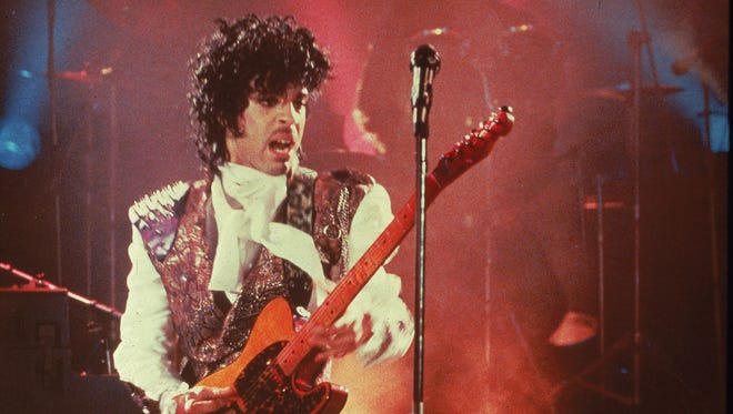 "Prince performs in his debut movie ""Purple Rain,"" the 1984 rock opera about a young man's search for artistic accomplishment and love."