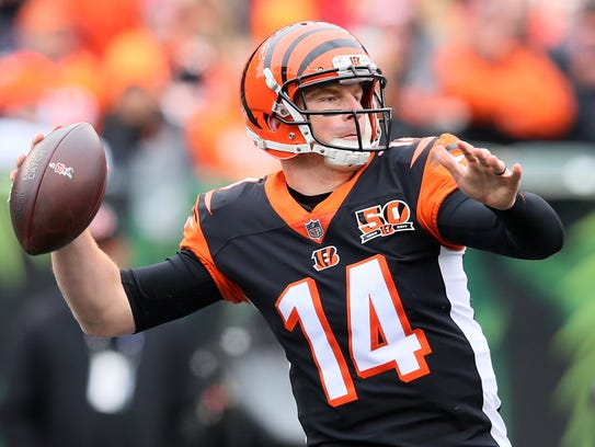 Andy Dalton has struggled with deep outside throws