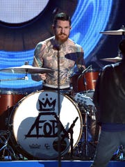 Andy Hurley of Fall Out Boy performs onstage during the 2015 Billboard Music Awards at MGM Grand Garden Arena on May 17, 2015 in Las Vegas, Nevada.