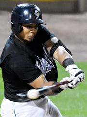 Isaias Tejeda, seen here in a file photo, slugged two homers for the York Revolution on Sunday vs. New Britain.