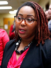 York City Council Member Edquina Washington following