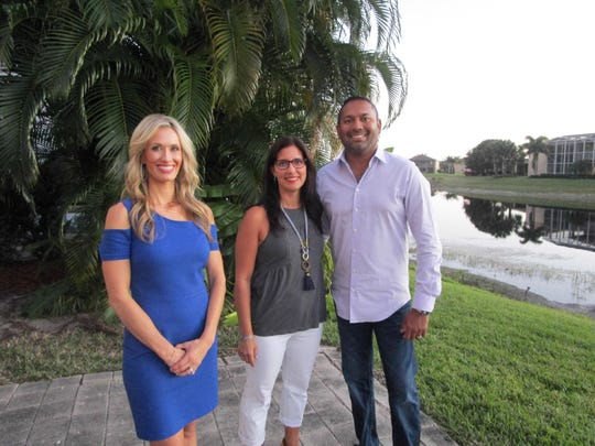 """Naples Realtor Heather Caine, left, and couple Melanie and Zach Nimboorkar hunt for the right home in Naples. The episode of """"House Hunters"""" will air on HGTV at 11 p.m. Saturday."""