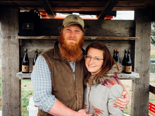 Evan and Emily Watson are the co-owners of Plan Bee Farm Brewery.