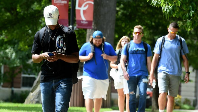 Campus is active again as students return to class Wednesday, Aug. 24, 2016 at Earlham College in Richmond.